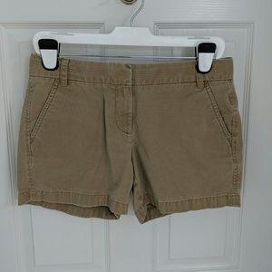 """J. Crew 100% Cotton 5"""" Chino Shorts - Honey Brown"""
